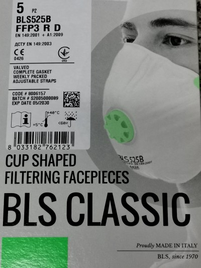 BLS 525B  FFP3  MASK  BOX PCS.5